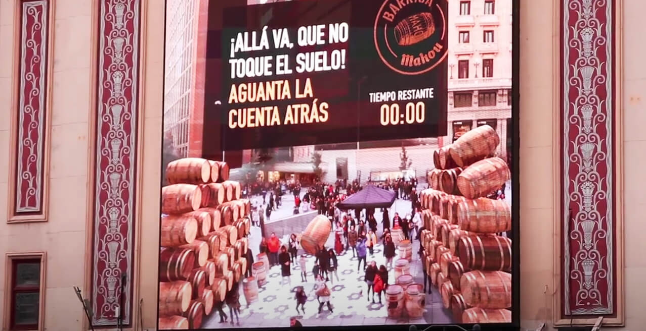 MAHOU TURNS CALLAO SQUARE INTO A BARREL CELLAR