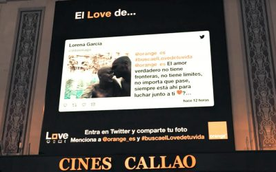 ORANGE FILLS THE SCREENS OF CALLAO CITY LIGHTS WITH LOVE MESSAGES