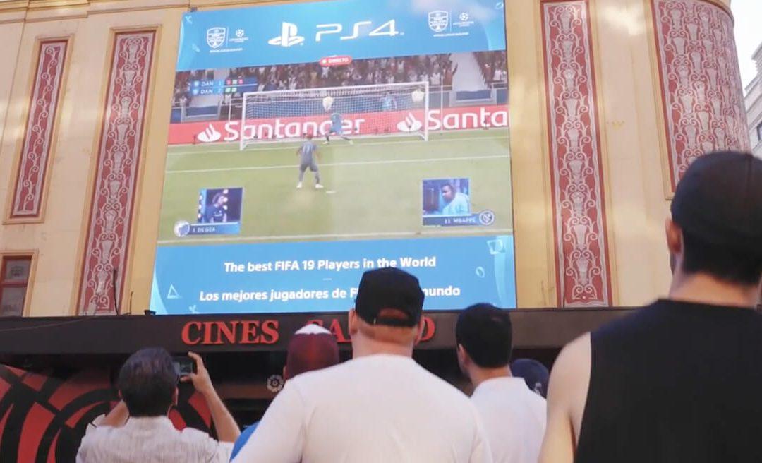 PLAYSTATION 4 CHOOSES CALLAO SCREENS TO BROADCAST THE UEFA ECHAMPIONS LEAGUE FINAL
