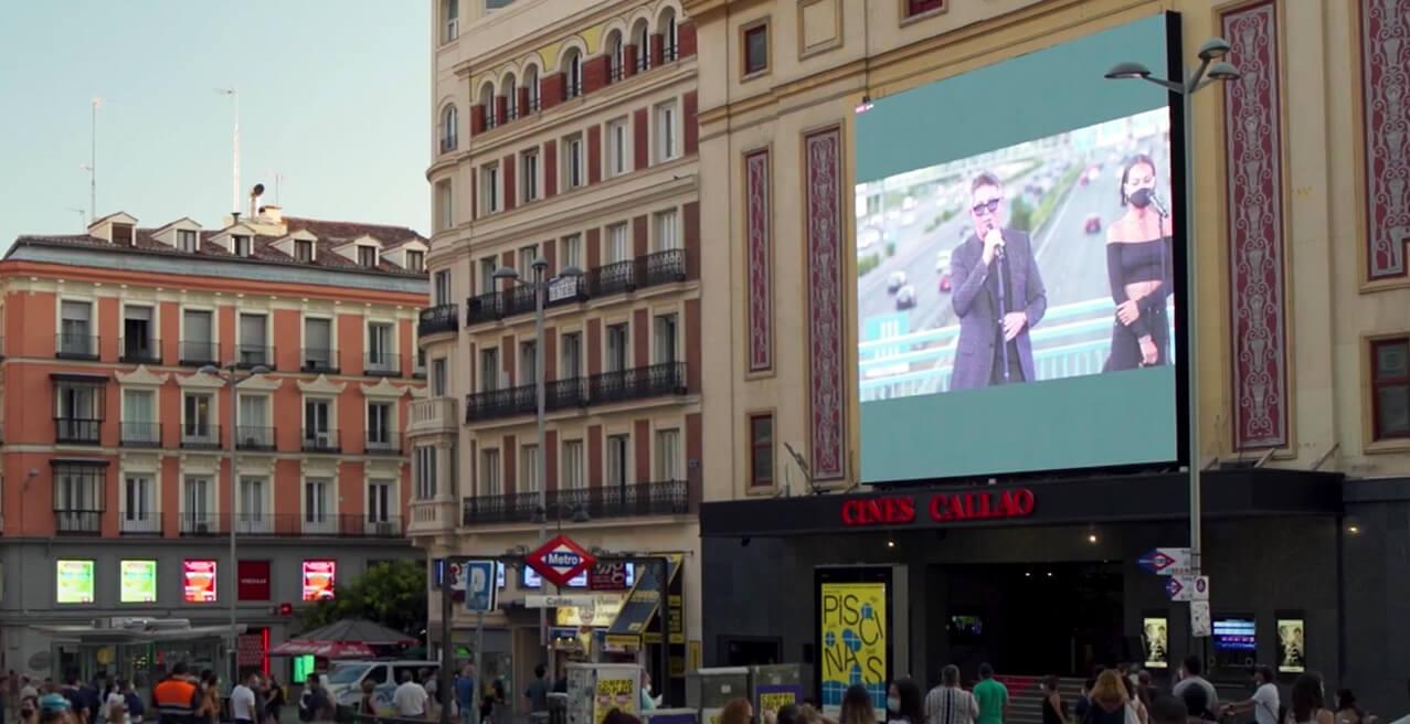 CALLAO CITY LIGHTS RETRANSMITE EN DIRECTO EL CONCIERTO SORPRESA DE ALEJANDRO SANZ EN MADRID