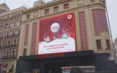VODAFONE, MRS. RUSHMORE AND YMEDIA MAKE THE FIRST 3D CAMPAIGN IN CALLAO CITY LIGHTS