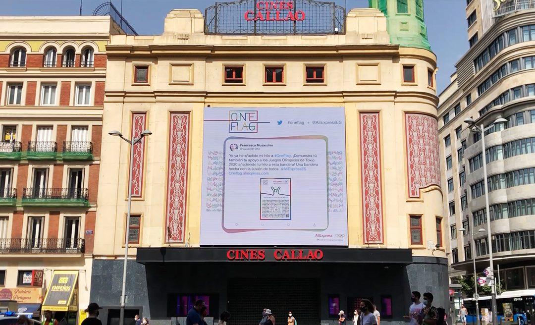 CALLAO CITY LIGHTS ESCAPARATE DEL MOVIMIENTO 'ONE FLAG' DE ALIEXPRESS